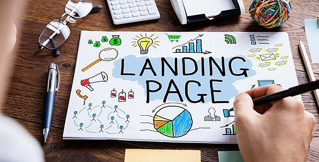 Effective landing page