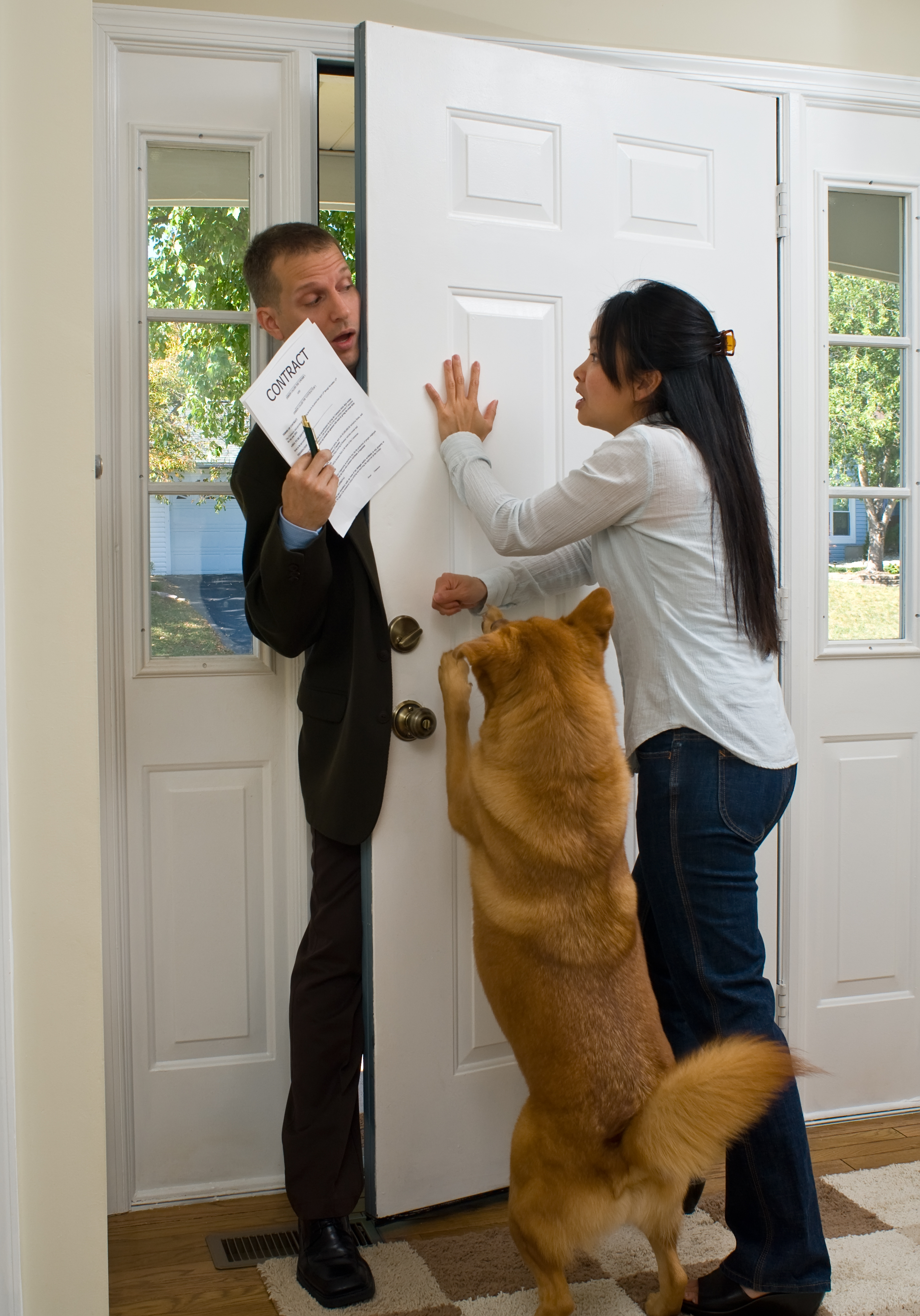 Door-to-door salesman