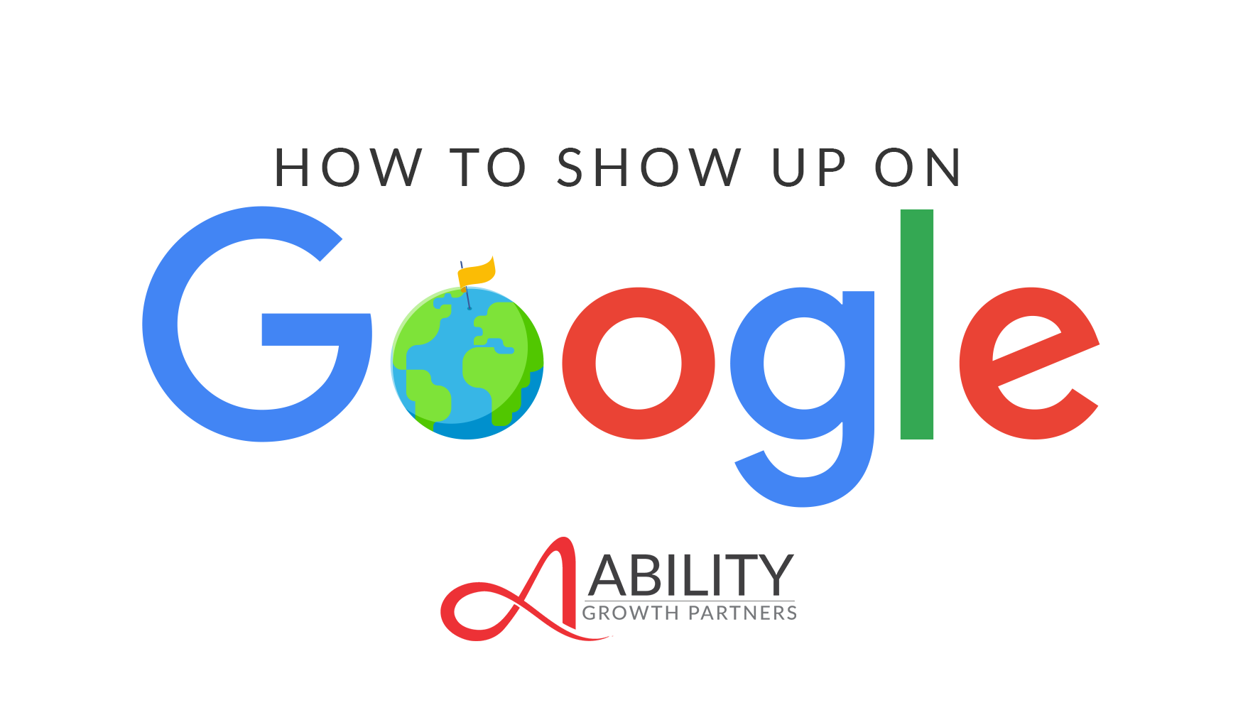 How To Show Up On Google blog post chapter 3, from Ability Growth Partners